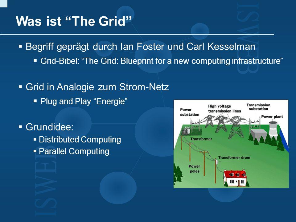 Themenbereiche I.Grundlagen des Grid Computing II.