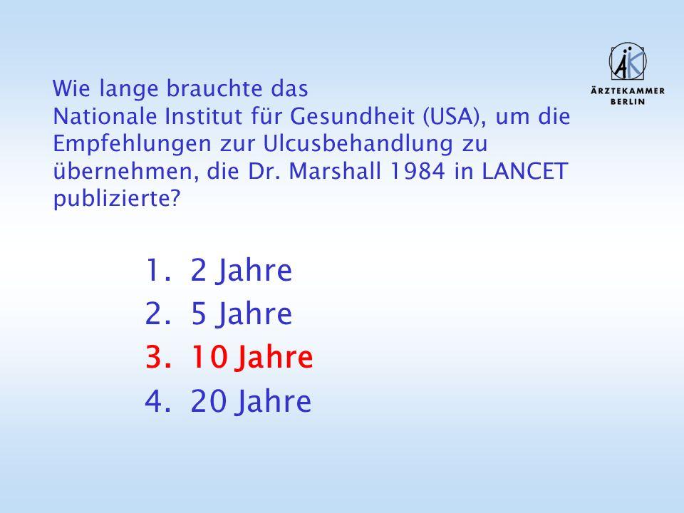 Historie der modernen Ulcustherapie Timetable: 1979: Dr.
