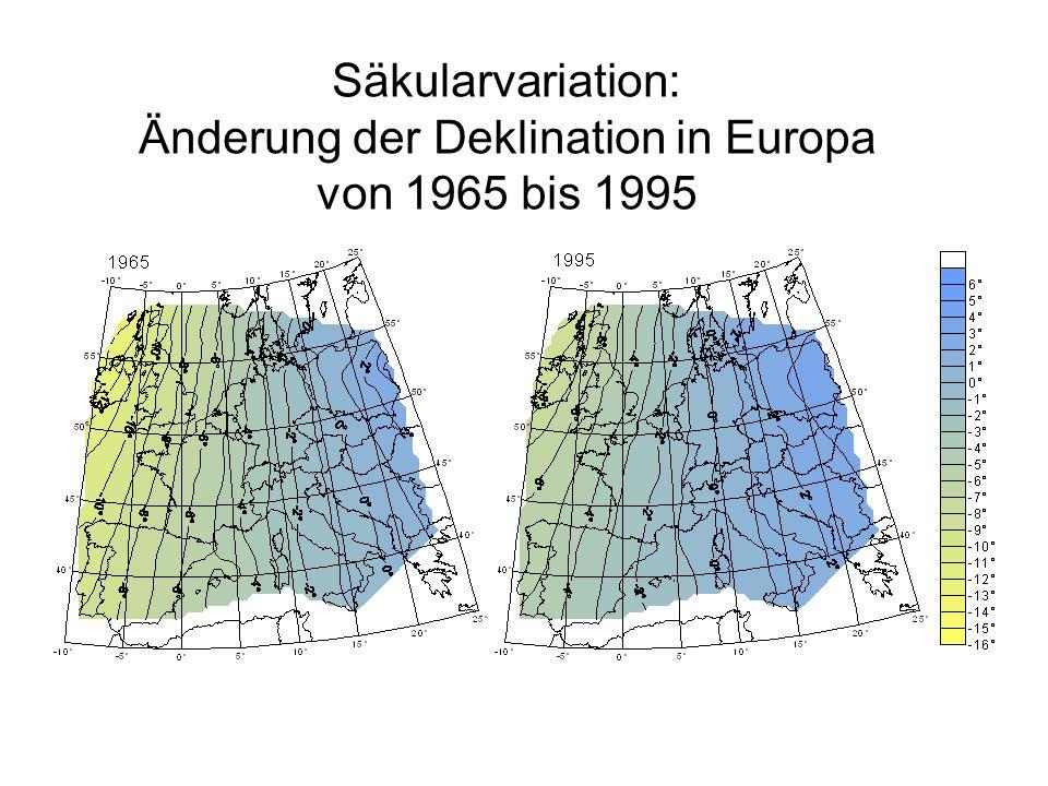 Externe Variationen Durch Ionosphärenströme erzeugter ruhiger Tagesgang Magnetischer Sturm