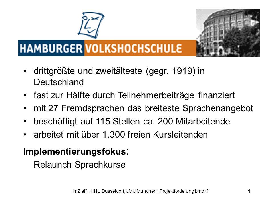 ImZiel - HHU Düsseldorf, LMU München - Projektförderung bmb+f 1 drittgrößte und zweitälteste (gegr.
