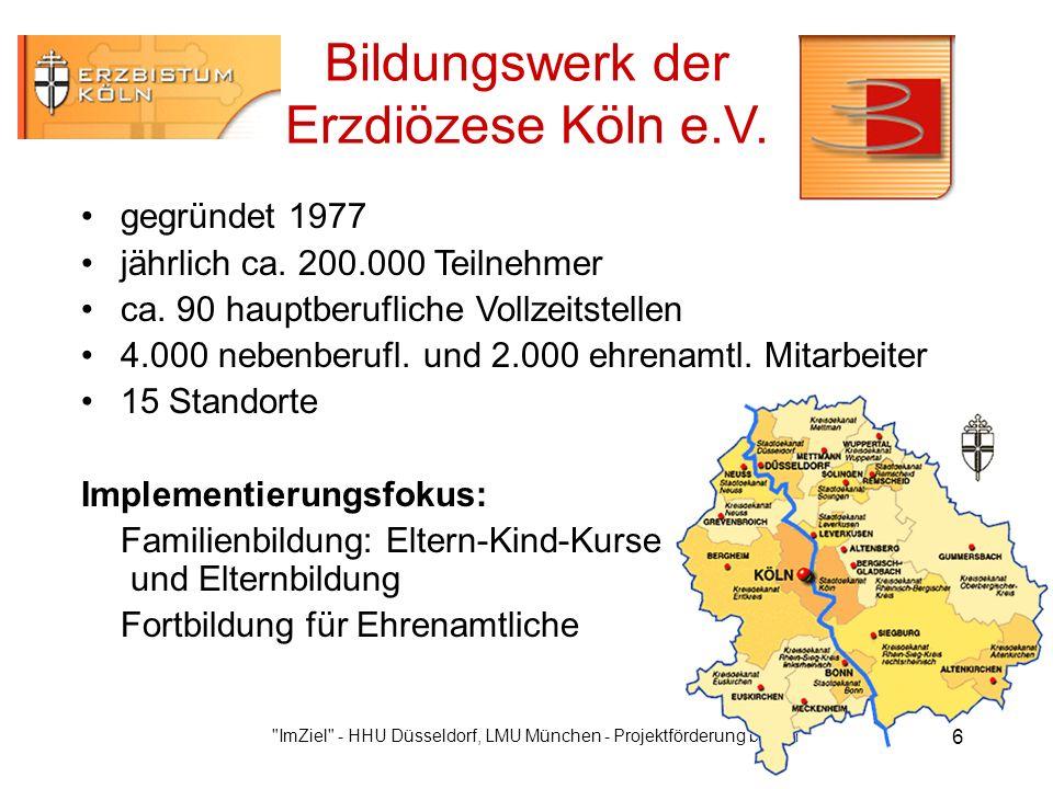 ImZiel - HHU Düsseldorf, LMU München - Projektförderung bmb+f 6 Bildungswerk der Erzdiözese Köln e.V.