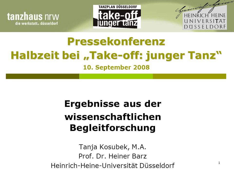 1 Pressekonferenz Halbzeit bei Take-off: junger Tanz Pressekonferenz Halbzeit bei Take-off: junger Tanz 10.