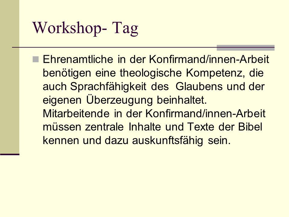 Workshop- Tag Standardisierte Ausbildung Juleica
