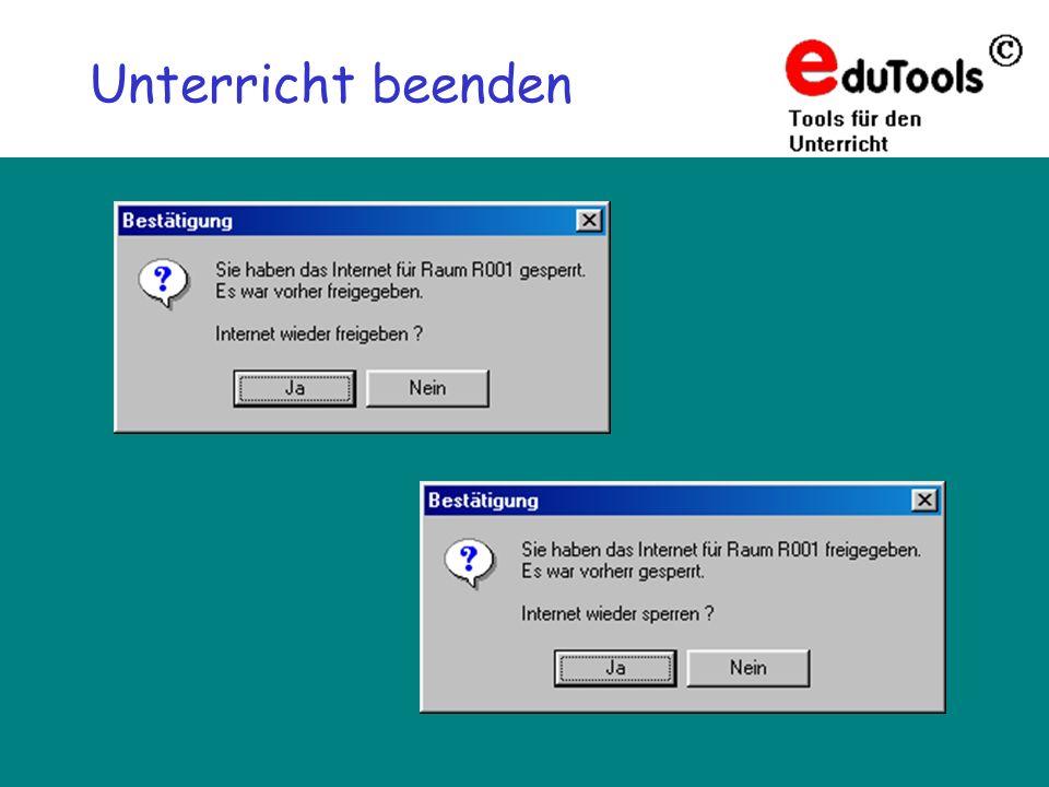 www.eduTools.de Unterricht beenden