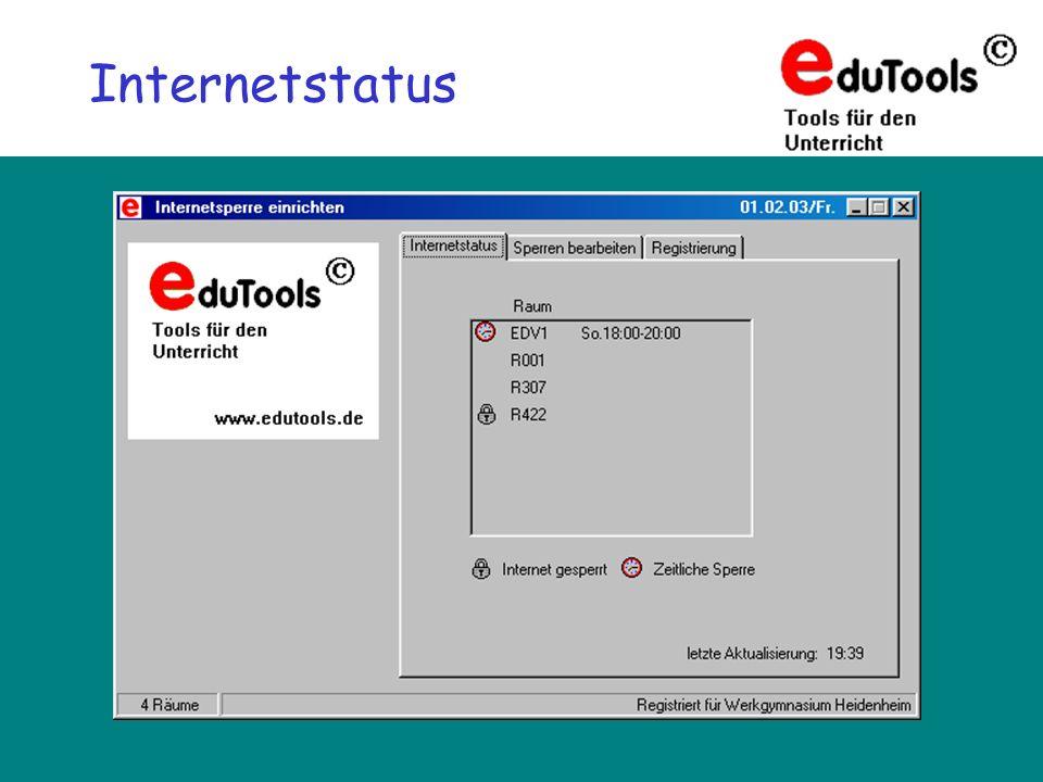 www.eduTools.de Internetstatus