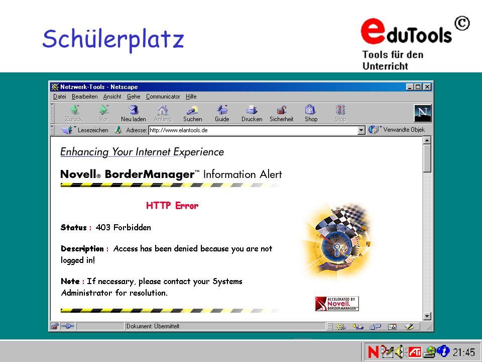 www.eduTools.de Schülerplatz