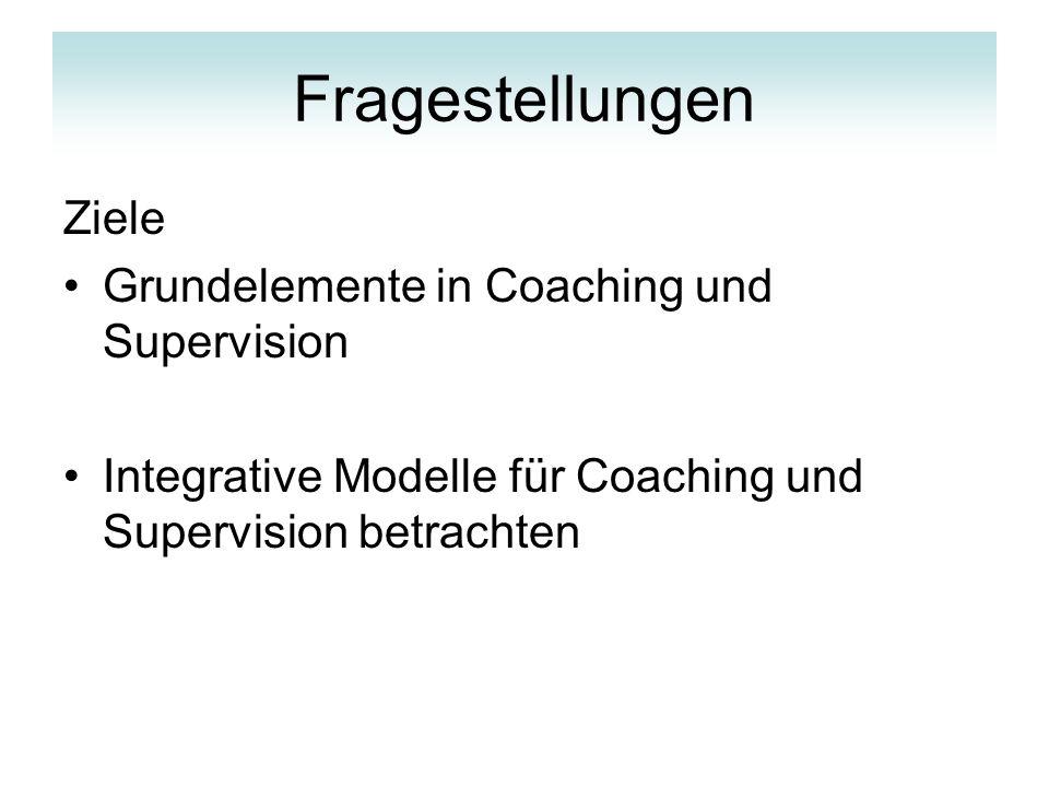 Coaching und Supervision Coaching & Supervision –professionelle Entwicklungsbegleitungen, in der eine Person bezüglich ihres persönlichen Handelns und Erlebens im Beruf mithilfe professioneller Verfahren unterstützt wird.