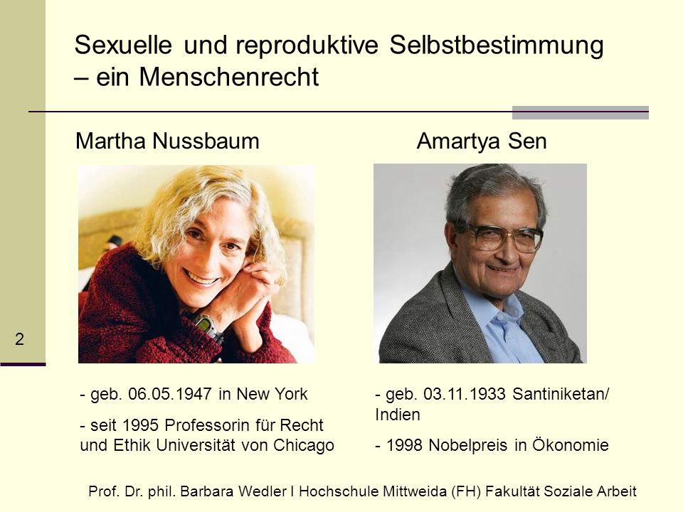 Sexuelle und reproduktive Selbstbestimmung – ein Menschenrecht Prof.