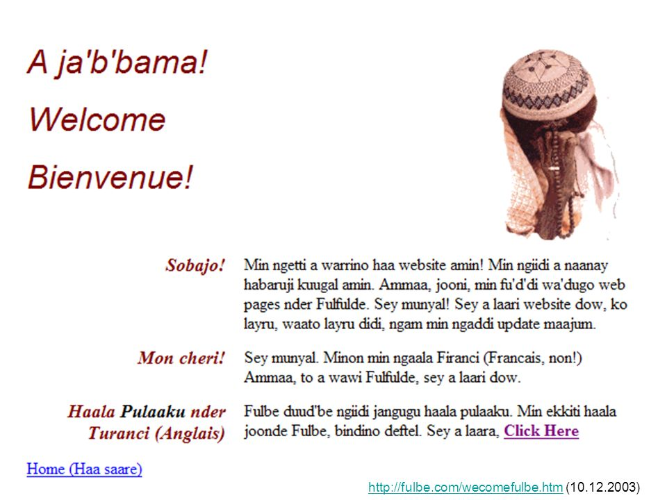 25 http://fulbe.com/wecomefulbe.htmhttp://fulbe.com/wecomefulbe.htm (10.12.2003)