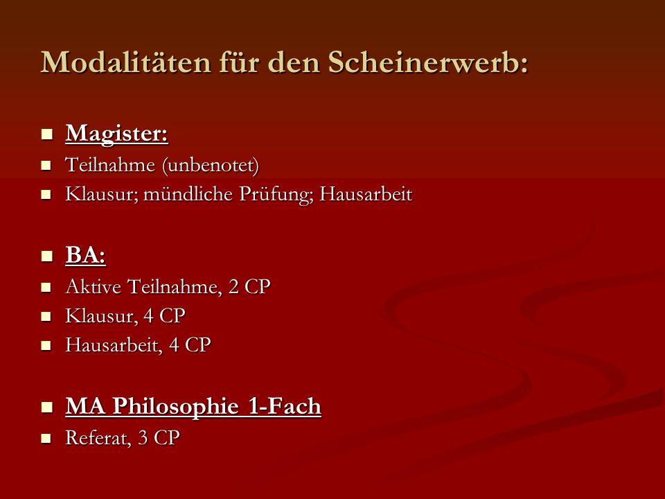 Lehramt Sek II/I Lehramt Sek II/I Teilnahme Teilnahme Klausur/mündlich/Hausarbeit Klausur/mündlich/Hausarbeit Lehramt GyGe Phil./Prakt.