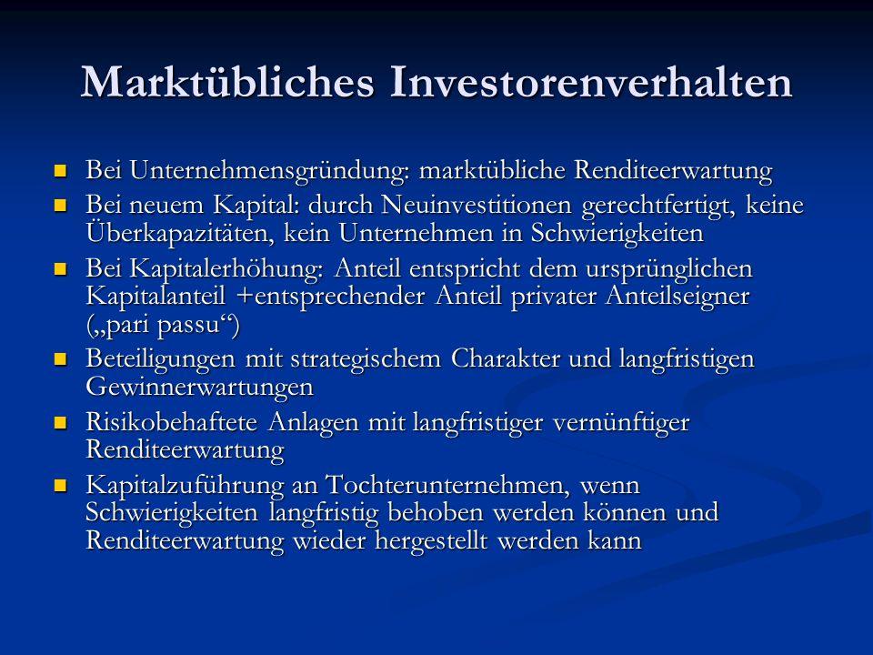Marktübliches Investorenverhalten Bei Unternehmensgründung: marktübliche Renditeerwartung Bei Unternehmensgründung: marktübliche Renditeerwartung Bei