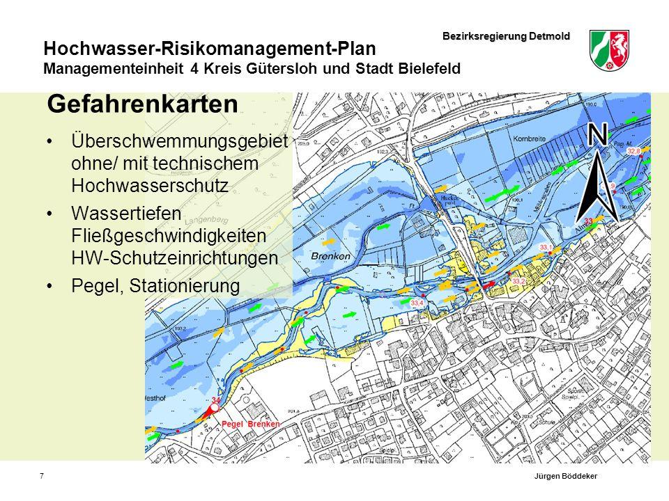 Bezirksregierung Detmold Hochwasser-Risikomanagement-Plan Managementeinheit 4 Kreis Gütersloh und Stadt Bielefeld 8Jürgen Böddeker