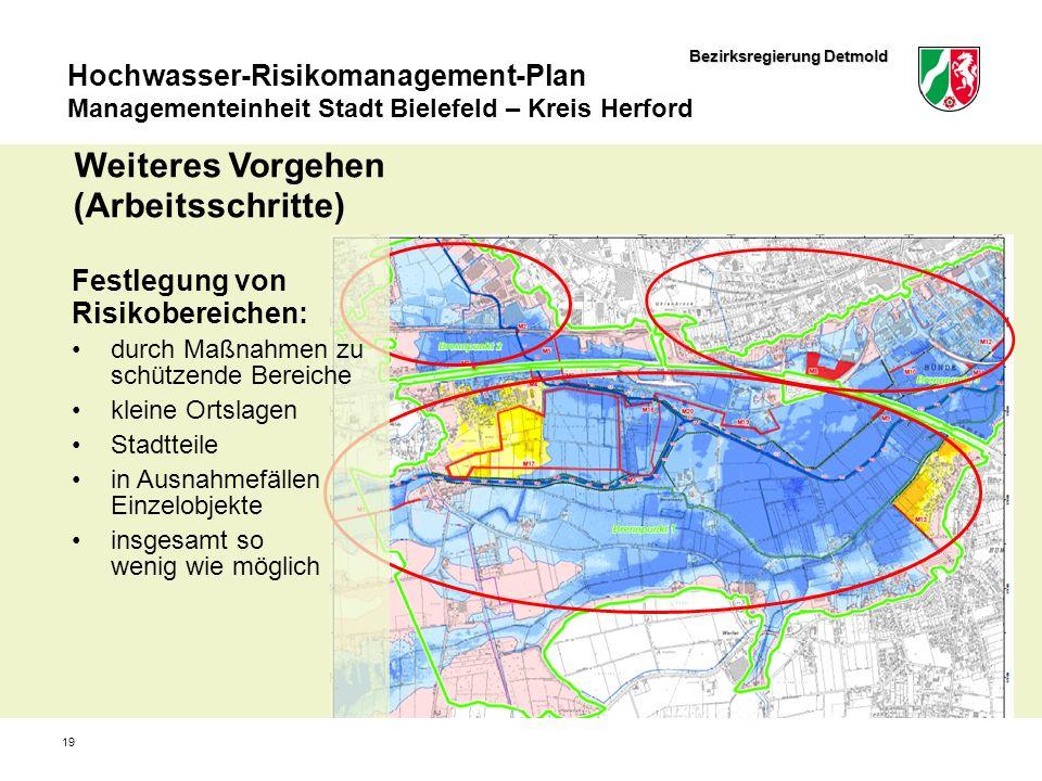 Bezirksregierung Detmold Hochwasser-Risikomanagement-Plan Managementeinheit Stadt Bielefeld – Kreis Herford 19 Festlegung von Risikobereichen: durch M