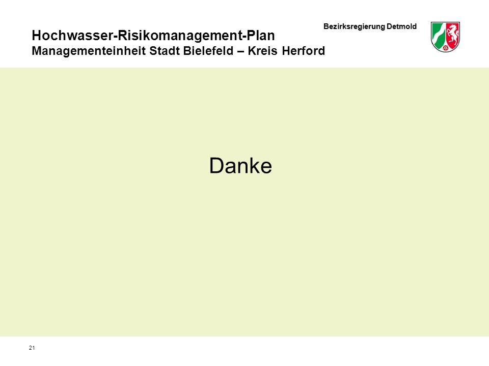 Bezirksregierung Detmold Hochwasser-Risikomanagement-Plan Managementeinheit Stadt Bielefeld – Kreis Herford 21 Danke