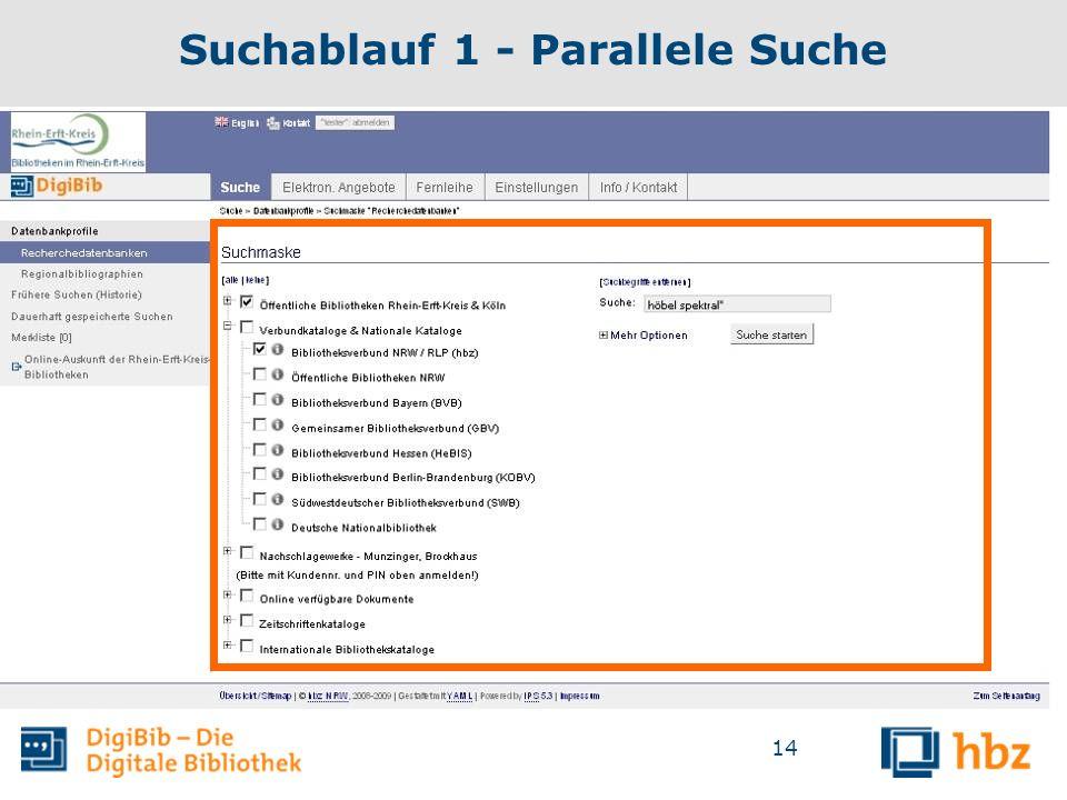 14 Suchablauf 1 - Parallele Suche
