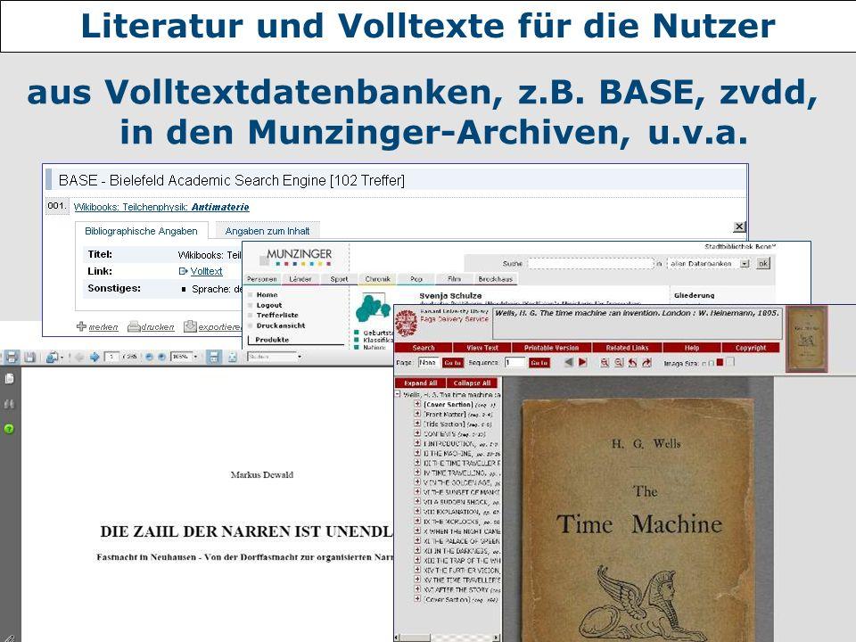 Nannette Heyder - hbz aus Volltextdatenbanken, z.B. BASE, zvdd, in den Munzinger-Archiven, u.v.a. Literatur und Volltexte für die Nutzer