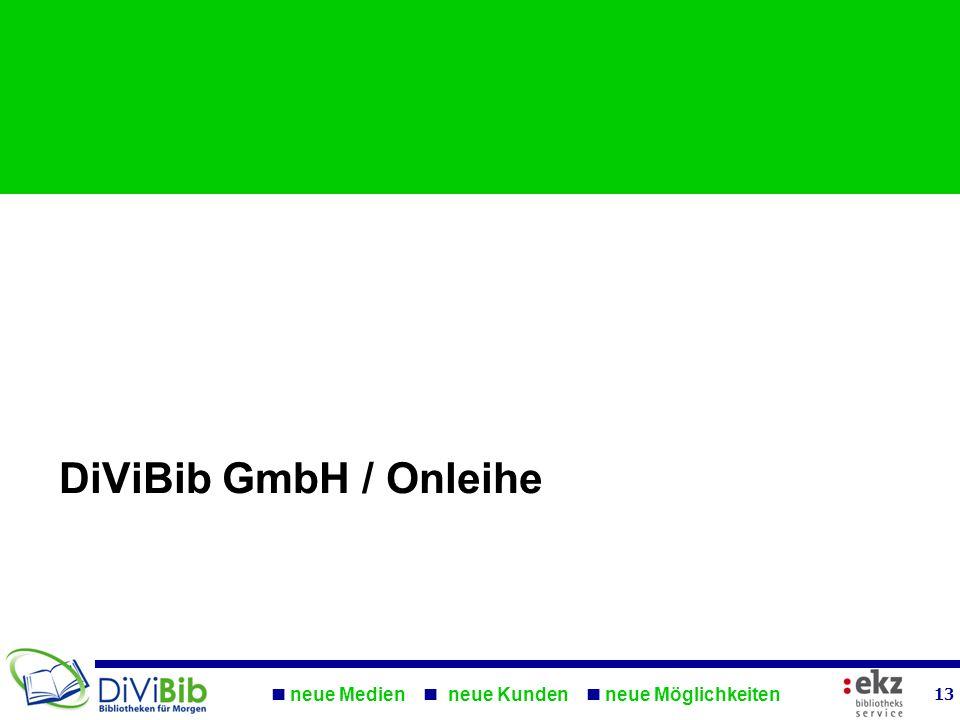 neue Medien neue Kunden neue Möglichkeiten 13 DiViBib GmbH / Onleihe