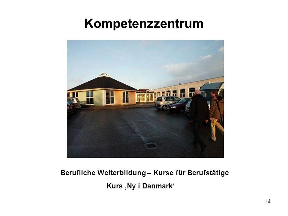 14 Kompetenzzentrum Berufliche Weiterbildung – Kurse für Berufstätige Kurs Ny i Danmark