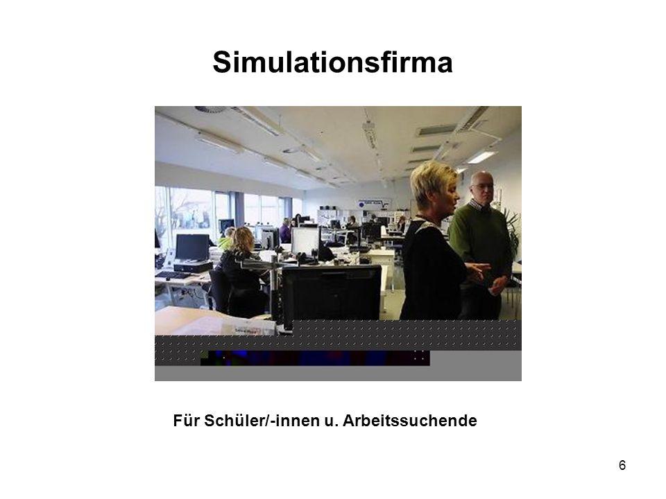 6 Simulationsfirma Für Schüler/-innen u. Arbeitssuchende