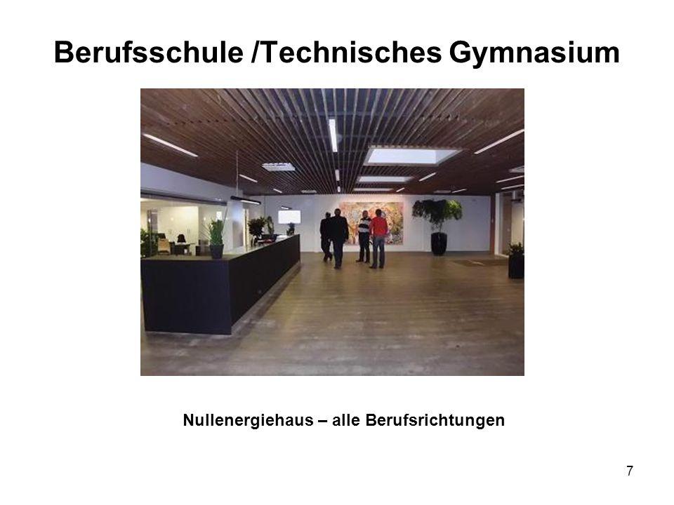 7 Berufsschule /Technisches Gymnasium Nullenergiehaus – alle Berufsrichtungen