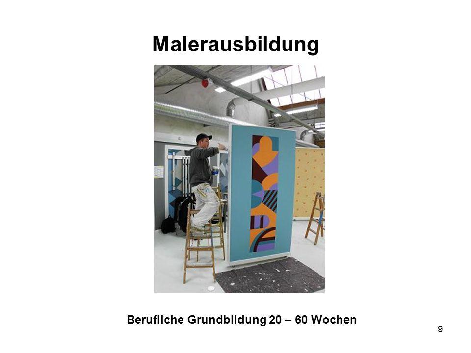 9 Malerausbildung Berufliche Grundbildung 20 – 60 Wochen