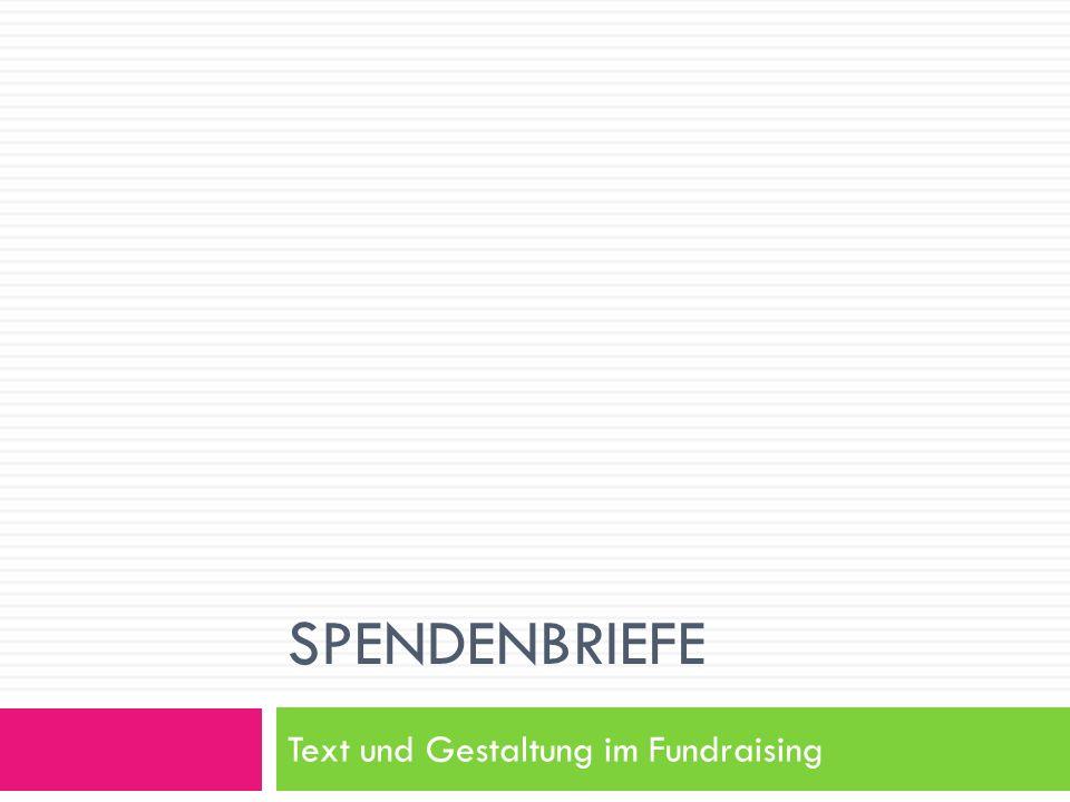 SPENDENBRIEFE Text und Gestaltung im Fundraising