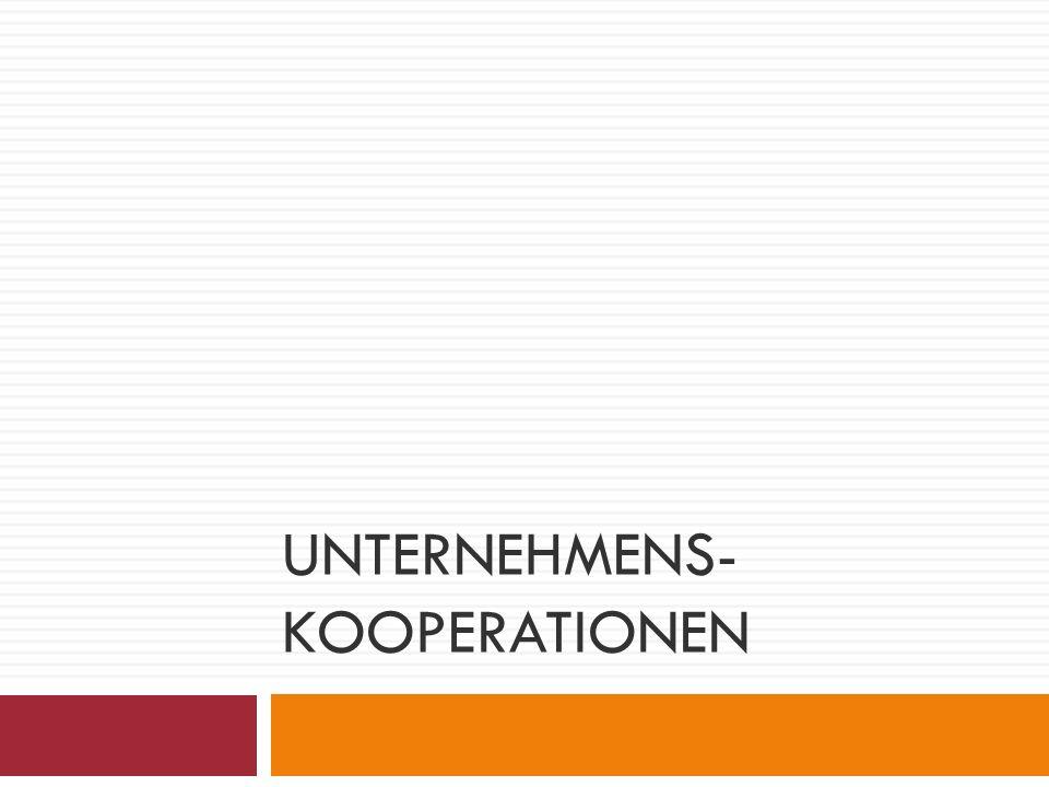 UNTERNEHMENS- KOOPERATIONEN