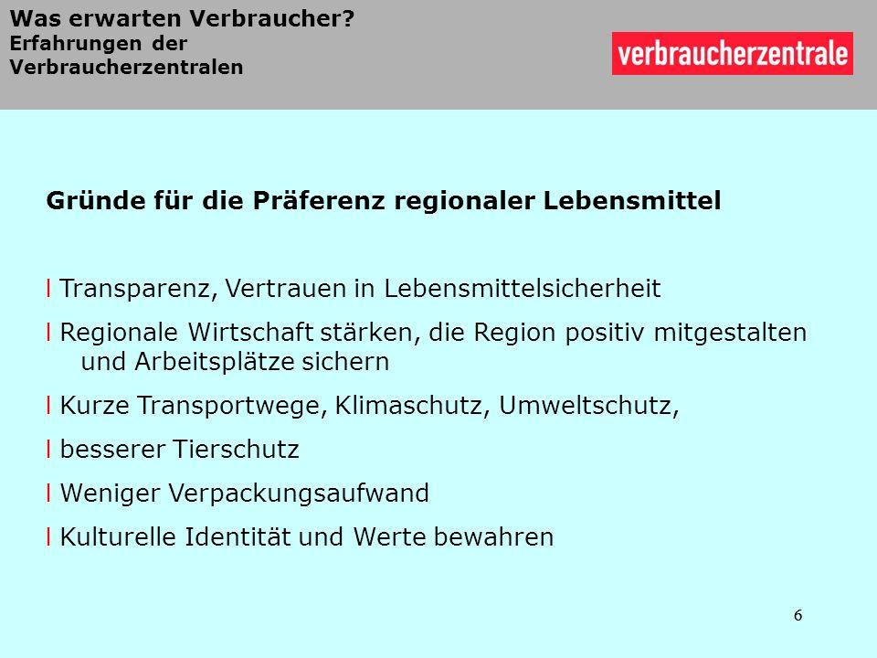 17 Länderzeichen in Deutschland 17 Transparenzerhebung der regionalen Landesprogramme im Auftrag der Verbraucherzentralen (2010) Derzeit 14 Länderzeichen in 10 Bundesländern in Deutschland Spiller, Zühlsdorf, Voss 2010/2011