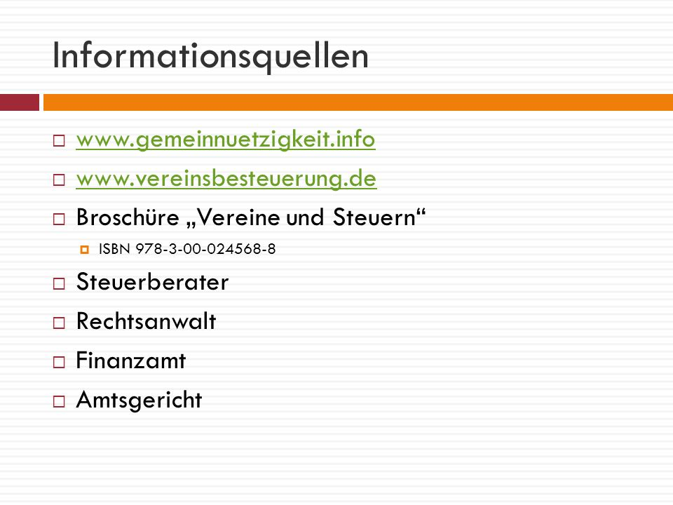 Vereinsrecht Gründung, Organe, Satzung, Mindestanforderungen: §§ 21ff.