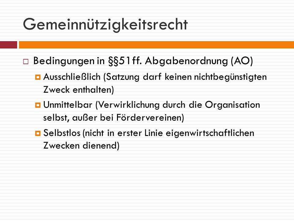 Vier Sparten des Vereins Geschäftsbetrieb Ideeller Bereich Vermögensverwaltung Zweckbetrieb steuerpflichtigsteuerbefreit