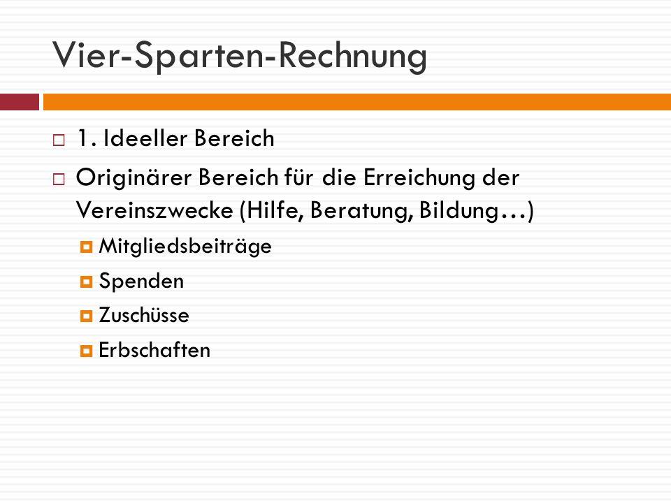 Vier-Sparten-Rechnung 2.