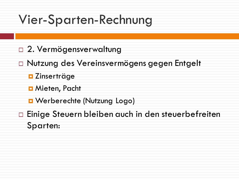 Vier-Sparten-Rechnung 3.