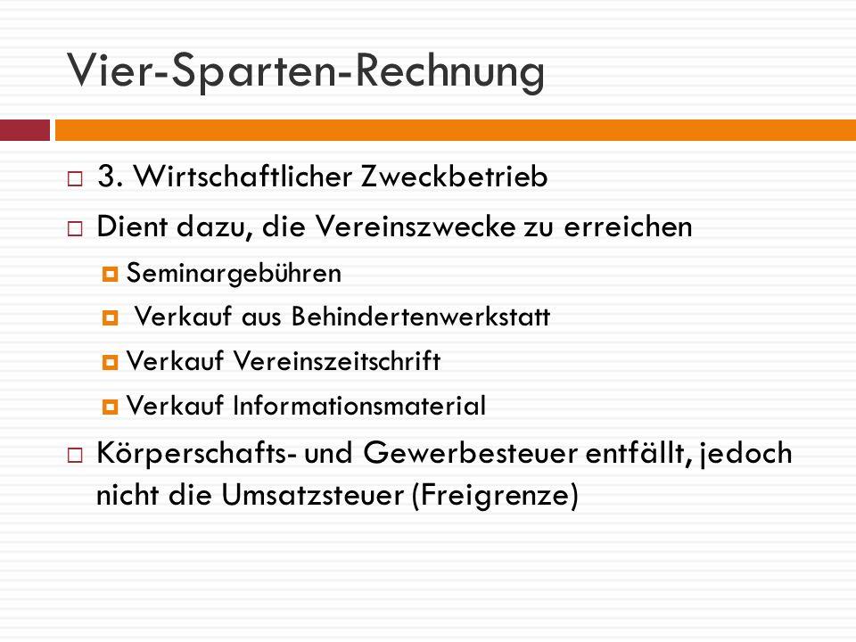 Vier-Sparten-Rechnung 4.