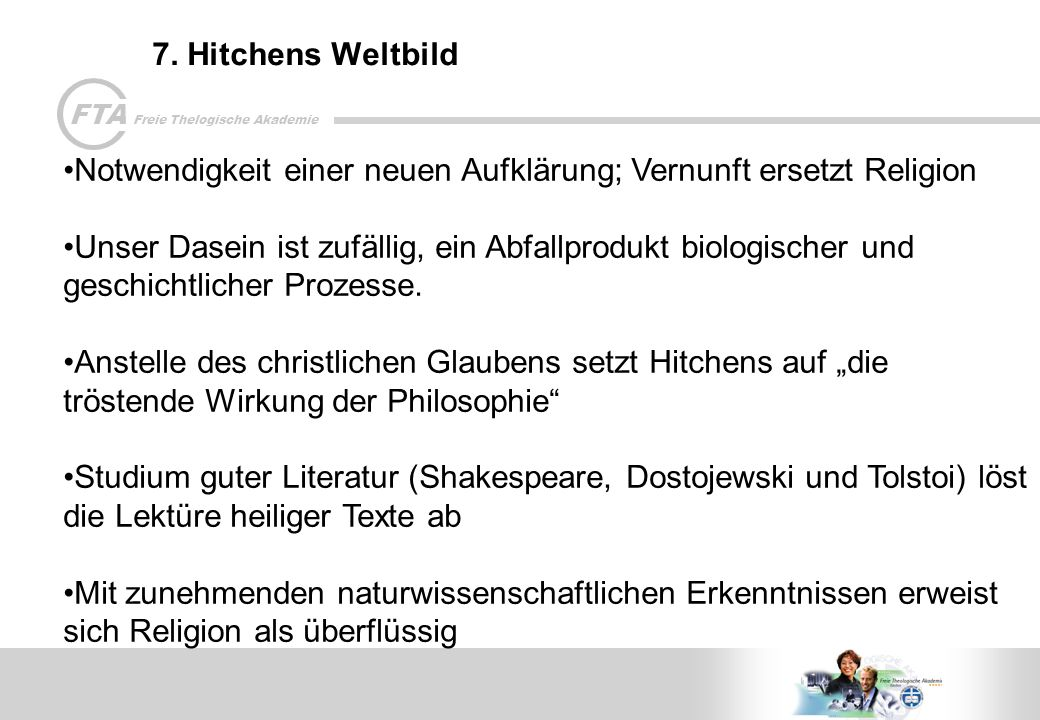 FTA Freie Thelogische Akademie 7.