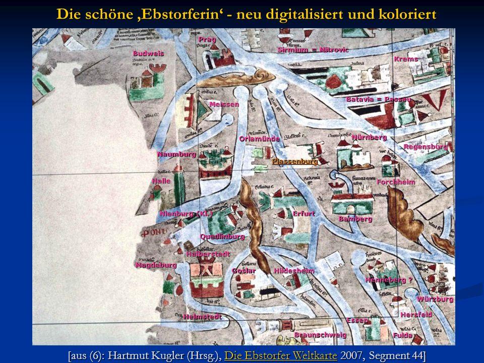 [aus (6): Hartmut Kugler (Hrsg.), Die Ebstorfer Weltkarte 2007, Segment 44] Die Ebstorfer WeltkarteDie Ebstorfer Weltkarte Die schöne Ebstorferin - ne