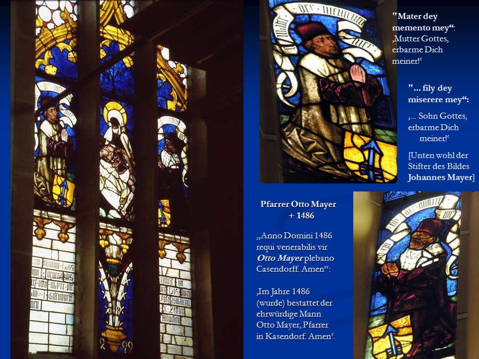 Weitere Zeugnisse aus vergangener Zeit 1560 1560 An dem Ostertag starb der edel und ehrenvest Joch.
