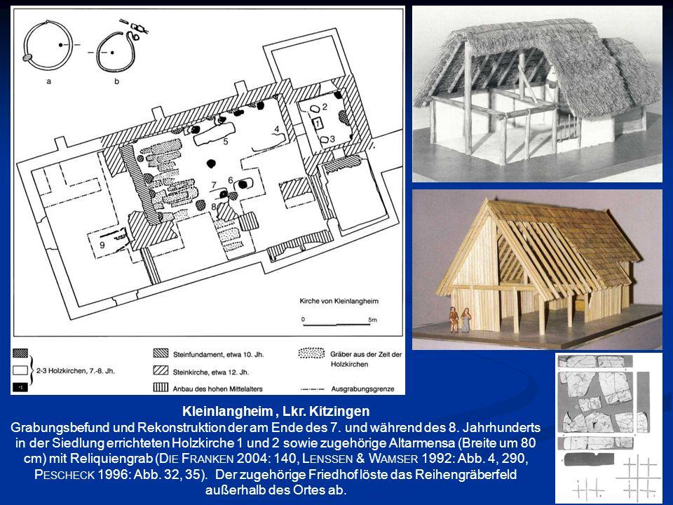 Kleinlangheim, Lkr. Kitzingen Grabungsbefund und Rekonstruktion der am Ende des 7. und während des 8. Jahrhunderts in der Siedlung errichteten Holzkir