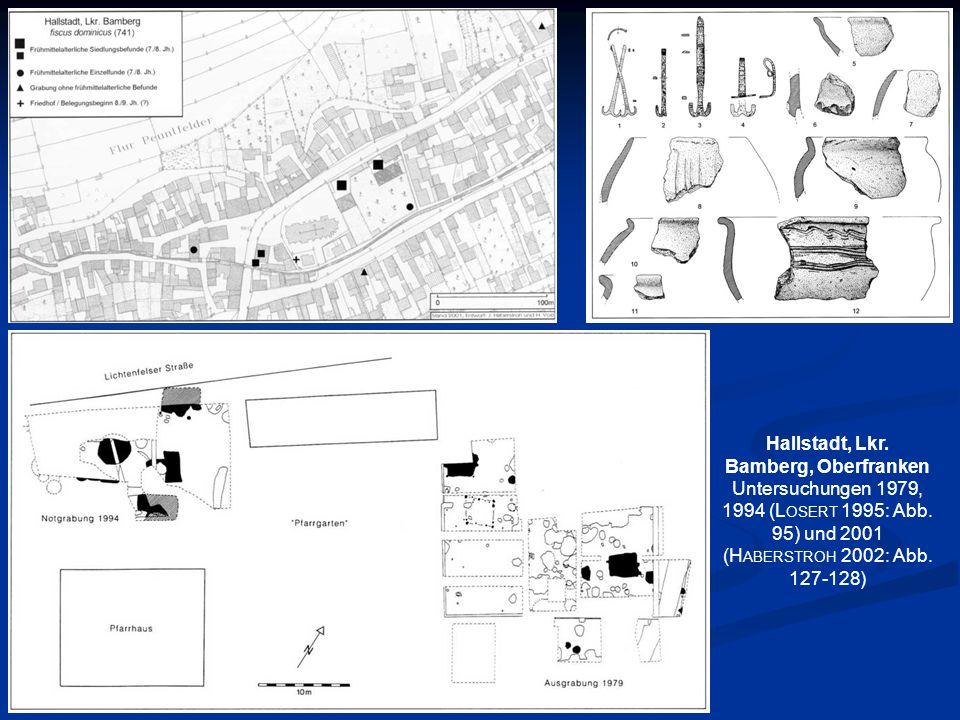 Hallstadt, Lkr. Bamberg, Oberfranken Untersuchungen 1979, 1994 (L OSERT 1995: Abb. 95) und 2001 (H ABERSTROH 2002: Abb. 127-128)