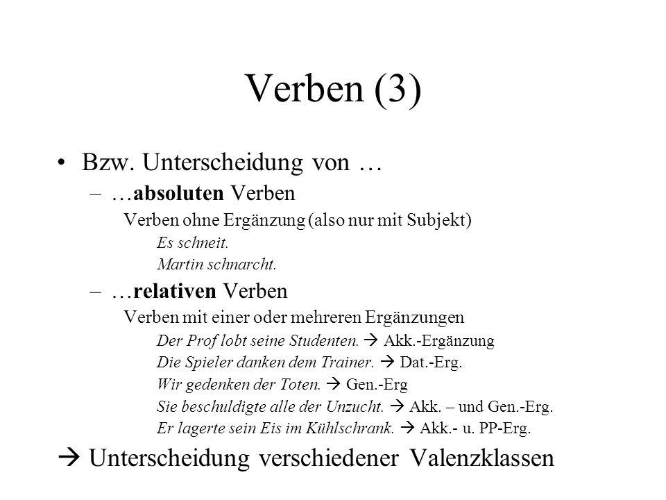 Verben (3) Bzw.