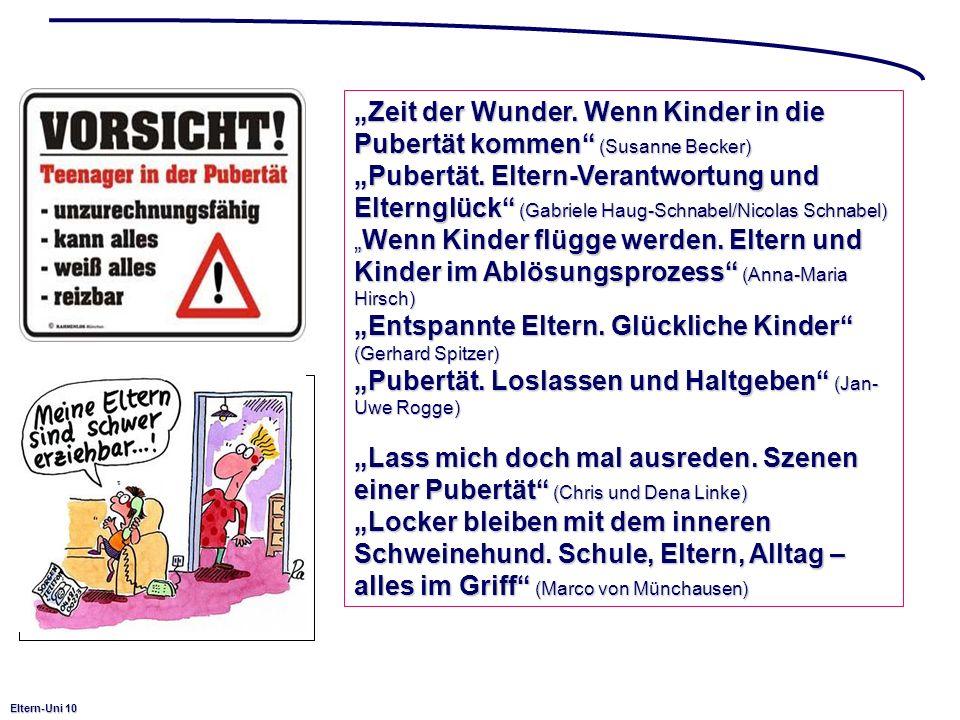 Eltern-Uni 10 Zeit der Wunder. Wenn Kinder in die Pubertät kommen (Susanne Becker) Pubertät. Eltern-Verantwortung und Elternglück (Gabriele Haug-Schna