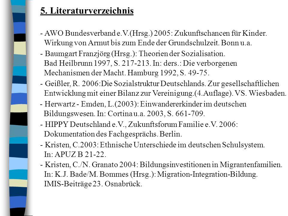 - Kristen, C./N.Granato 2004: Bildungsinvestitionen in Migrantenfamilien.