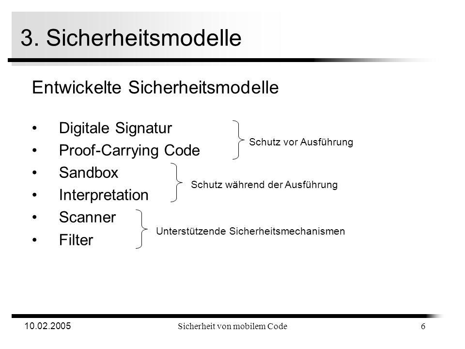 10.02.2005Sicherheit von mobilem Code 2.