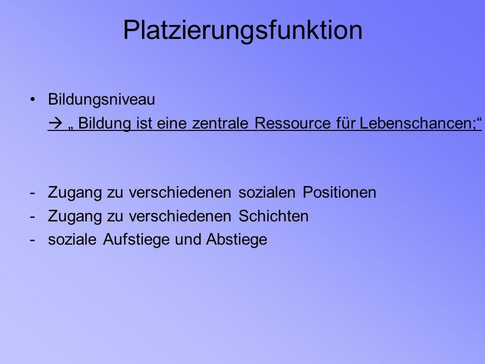 I.historische und aktuelle schichtspezifische Bildungschancen in der Bundesrepublik und der DDR 3.