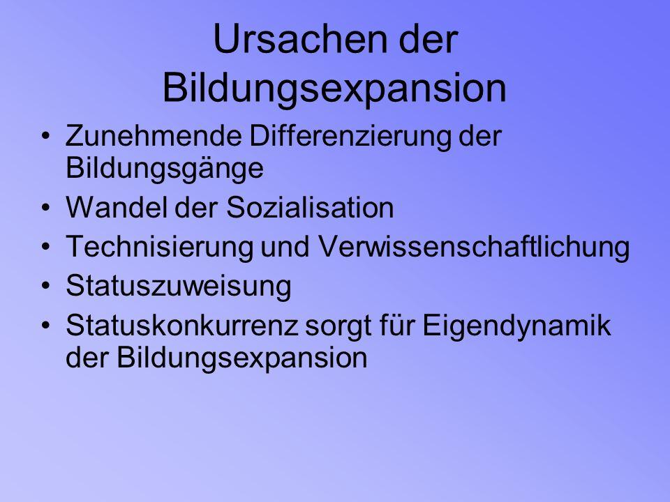 Zusammenhang von Bildungschancen und sozialer Herkunft I.