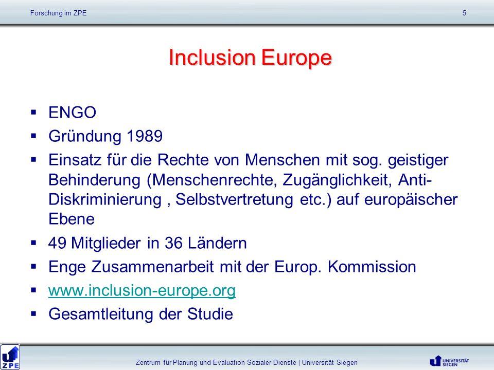Inclusion Europe Inclusion Europe ENGO Gründung 1989 Einsatz für die Rechte von Menschen mit sog.