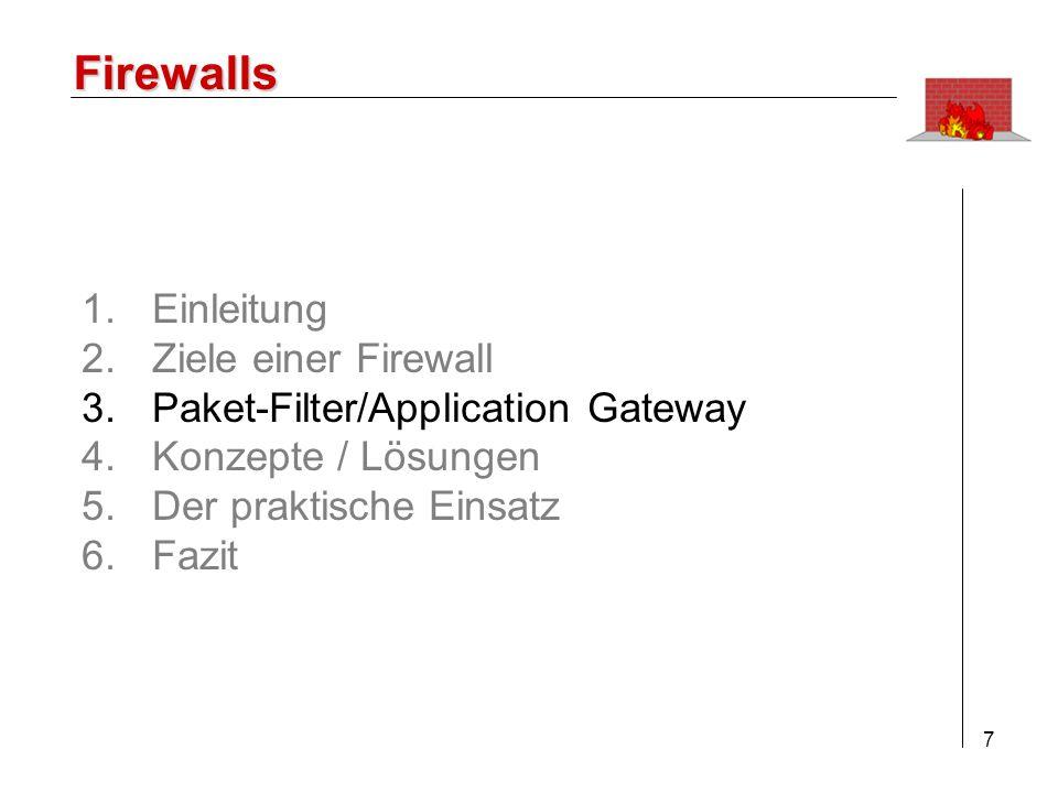 8 Firewalls 3.1 Aktive Elemente