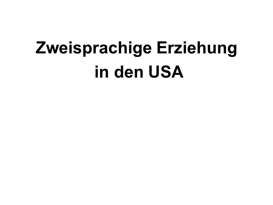 Zweisprachige Erziehung in den USA
