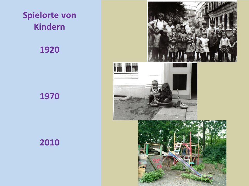 Spielorte von Kindern 1920 1970 2010
