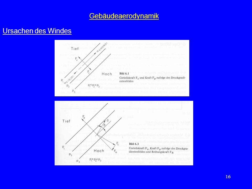 16 Gebäudeaerodynamik Ursachen des Windes