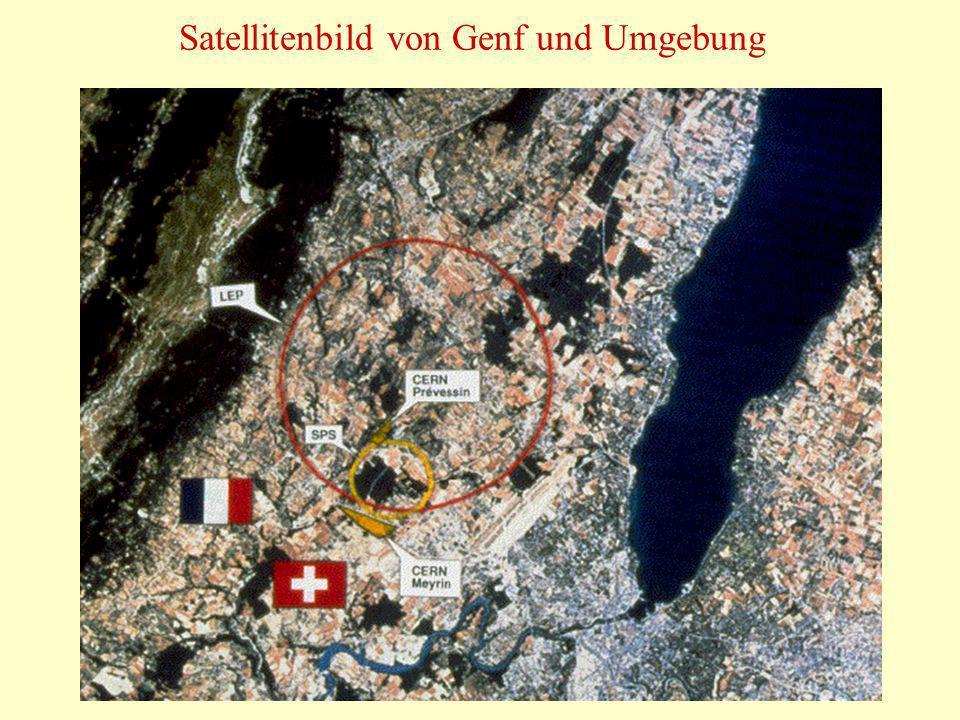 70 Satellitenbild von Genf und Umgebung